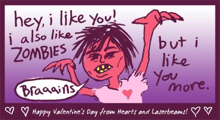 I Also Like Zombies Valentine