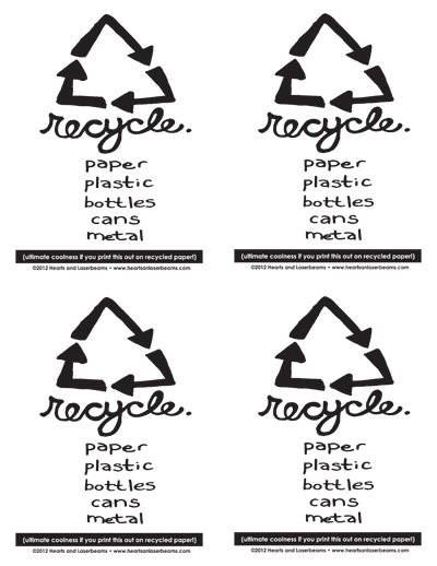 photo regarding Trash Sign Printable named Absolutely free Printables: Sorting Rubbish Recycle Bin Indicator