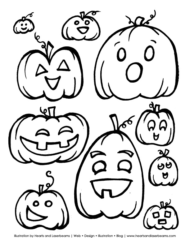 coloring pages pumpkins and ghosts - photo#19